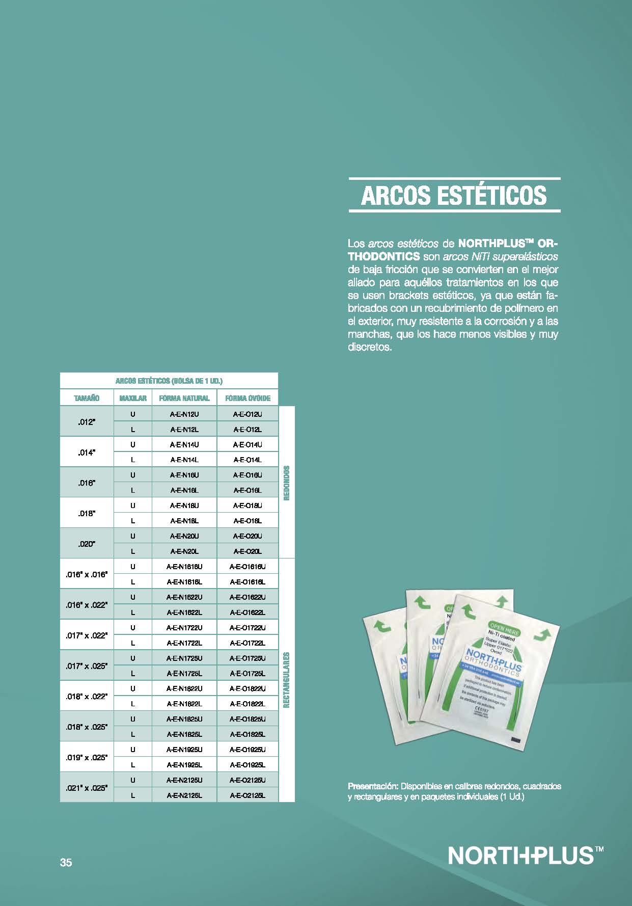 ARCOS ESTÉTICOS NORTHPLUS ORTHODONTICS