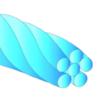 Arco trenzado de 6 hilos coaxial TWISTADENT™ de Adenta - Natural - Redondo .0155 Upper
