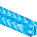 Arco trenzado de 8 hilos TWISTADENT™ de Adenta - Natural - Rectangular .16x.022 Upper