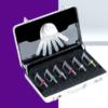 Kit de Stripping (Starter Kit C), compuesto por 6 limas diamantadas de doble cara (de 15, 25, 40, 60, 90 micras y 40 con sierra) + maletín de aluminio + juego de galgas
