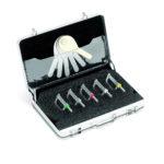 Kit de Stripping (Starter Kit A), compuesto por 5 limas diamantadas de doble cara (de 15, 25, 40, 60 y 90)+ maletín de aluminio (sin galgas)