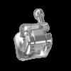 Bracket Metálico Autoligado Pasivo serie Borealis Plus MBT .022, 1 Caso de 20 piezas, Hook en canino NORTHPLUS ORTHODONTICS
