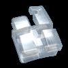 Bracket Estético de Zafiro Serie Ice, Roth .022, 1 caso de 20 piezas, Hooks en 3, 4 y 5 NORTHPLUS ORTHODONTICS