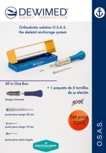 Ofertas Set Introducción OSAS microtornillos ortodoncia Dewimed