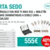 Kit de Stripping, compuesto por contraángulo NSK Ti-Max X55 + maletín con 6 limas diamantadas de doble cara (de 15, 25, 40, 60, 90 micras y 40 con sierra) + juego de galgas