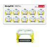 Reposición StripFIX Set (Edenta) - Sistema de tiras de pulido para stripping y remoción de cemento (10 tiras diamantadas color amarillo, una sola cara, grano medio, 15 micras)