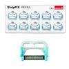 Reposición StripFIX Set (Edenta) - Sistema de tiras de pulido para stripping y remoción de cemento (10 tiras diamantadas color azul, una sola cara, grano medio, 45 micras)